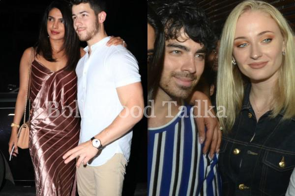 priyanka and nick spotted at party with joe and sophie