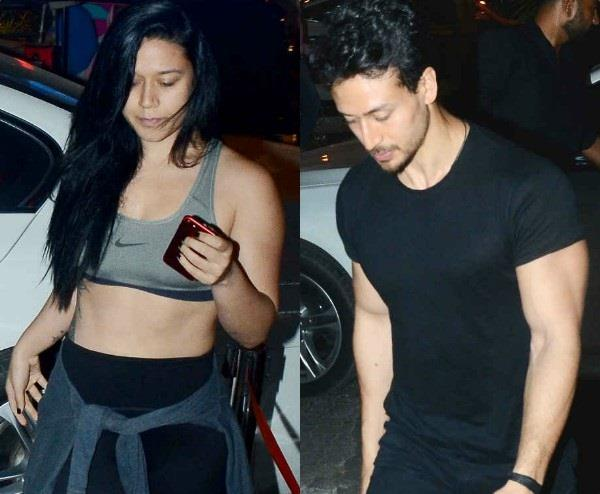 tiger shroff snapped with sister krishna shroff