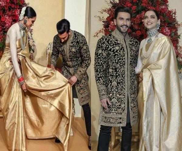 deepika padukone and ranveer singh reception video
