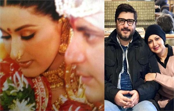 sonali bendre s anniversary wish for husband goldie behl