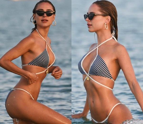 kimberley garner bikini look