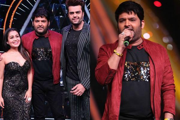 kapil sharma promotes his upcoming show at set of indian idol 10