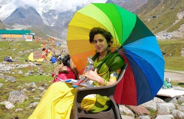 sara ali khan from the sets of kedarnath