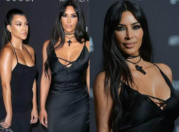 kim and kourtney kardashian attend lacma gala event