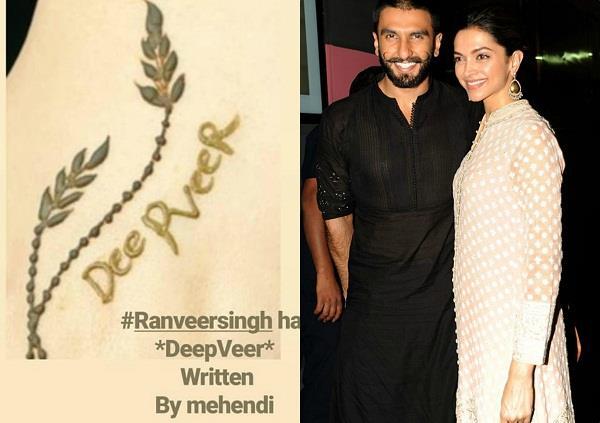 रणवीर सिंह ने लगाई दीपिका के नाम की मेहंदी, वेन्यू से तस्वीरें आई सामने