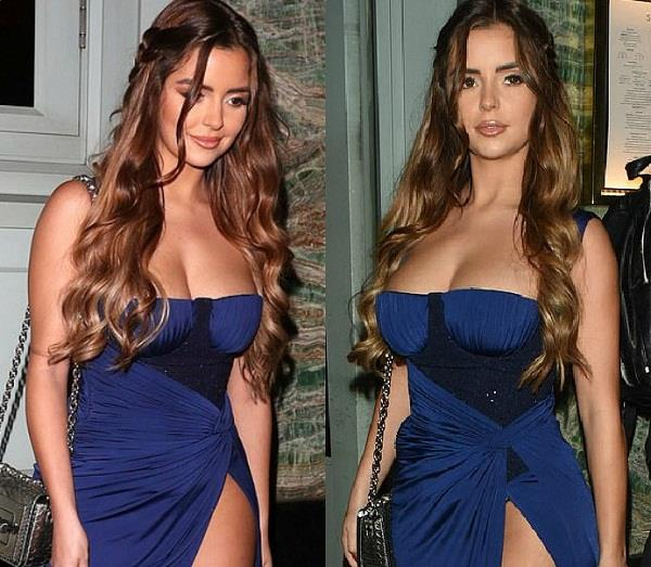 demi rose bold look