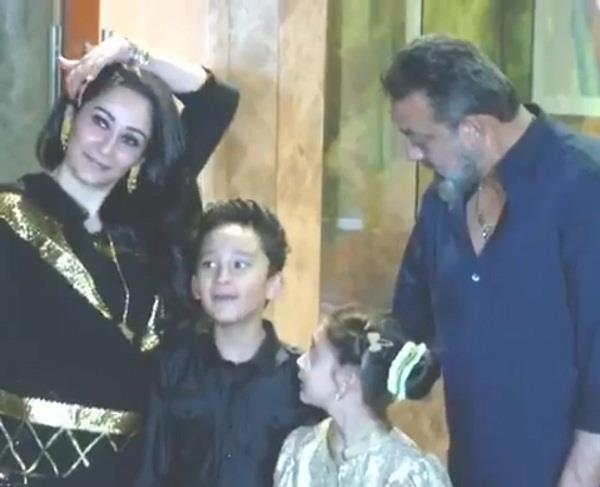 sanjay dutt son shahraan video viral