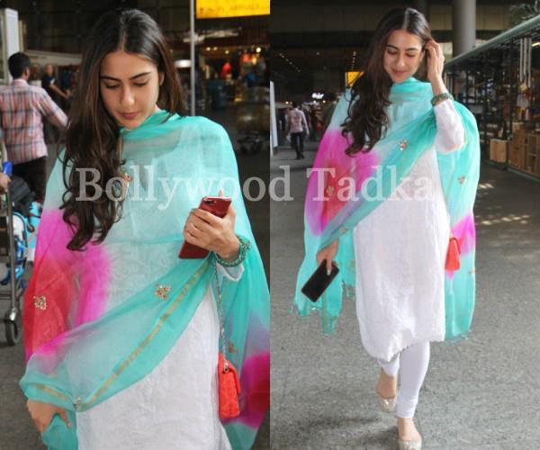 sara ali khan spotted at airport