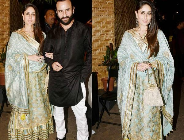 kareena and saif spotted at prithvi theatre 40 years celebration
