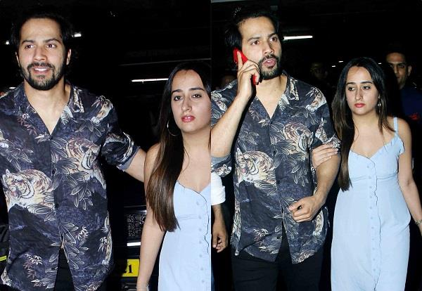 varun dhawan with girlfriend