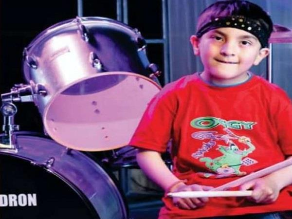 6 year old drummer dron chandel with his talent