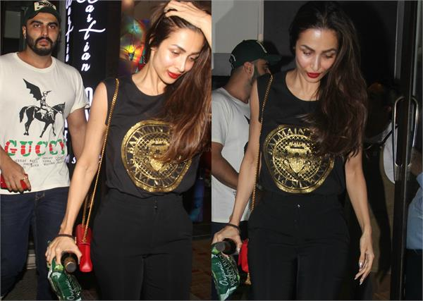 malaika arjun spotted at dinner date