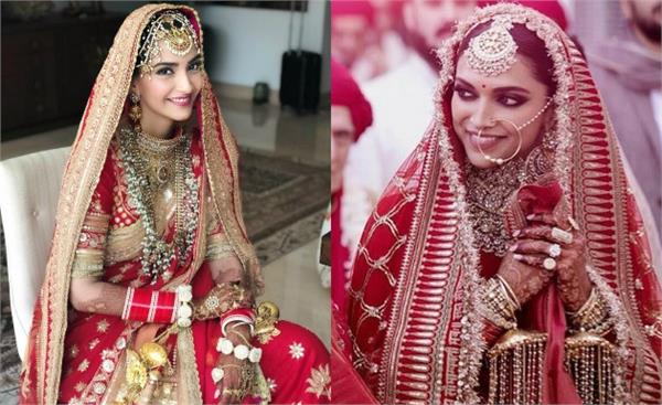 bollywood actresses wear expenensive dresses in thier wedding