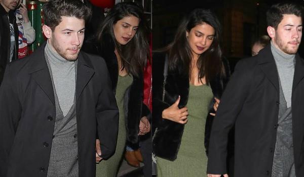 priyanka nick spotted at london restaurant