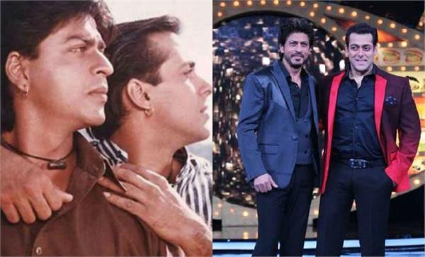 salman khan shahrukh khan get emotional after watching karan arjun song