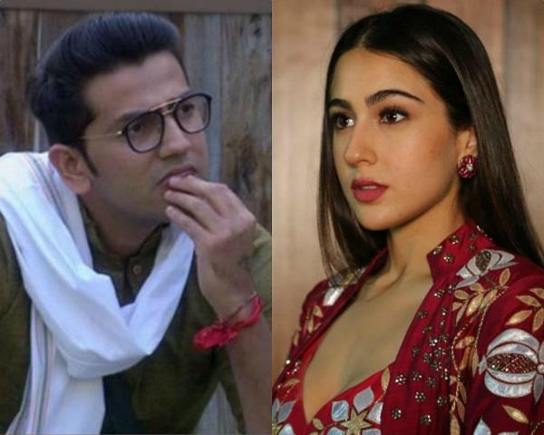 bigg boss 12 contestant romil chaudhary misbehaving with sara ali khan
