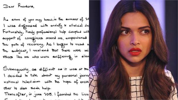 deepika discloses her depression story in letter