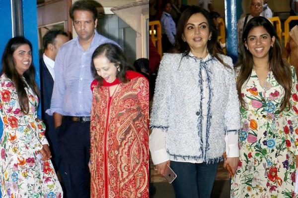 isha ambani anand piramal first public appearance after wedding