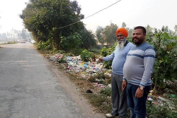 demand for the discharge of waste on the edges of the road