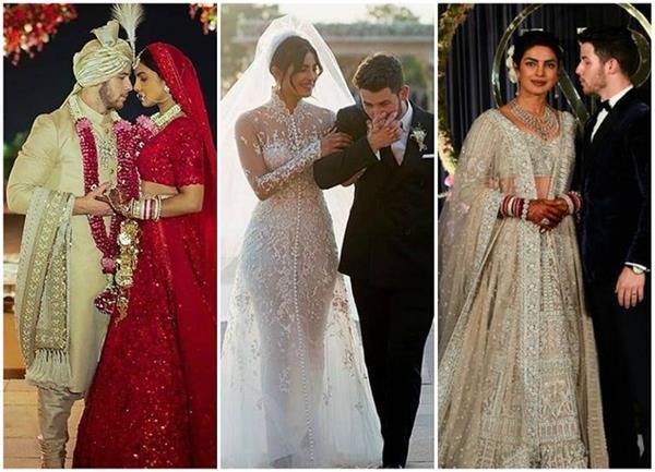 all the fabulous details of priyanka chopra s wedding dresses