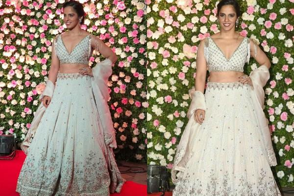 saina nehwal glamorous look at kapil sharma and ginni chatrath reception