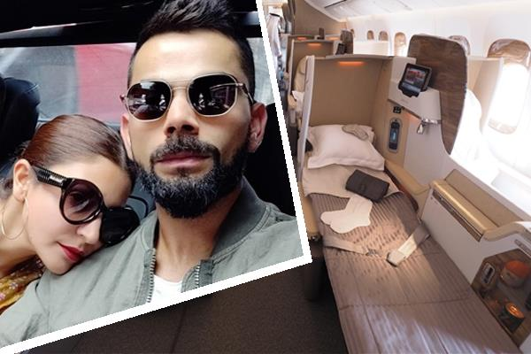 virat anushka give up business class seat to his fast bowler