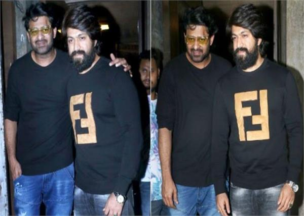 baahubali prabhas and kgf star yash met in mumbai