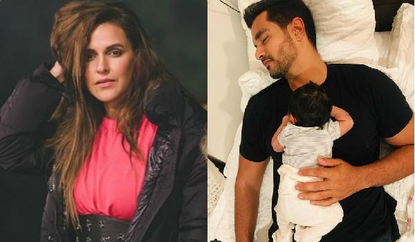 neha dhupia share cute pic daughter mehr with angad bedi