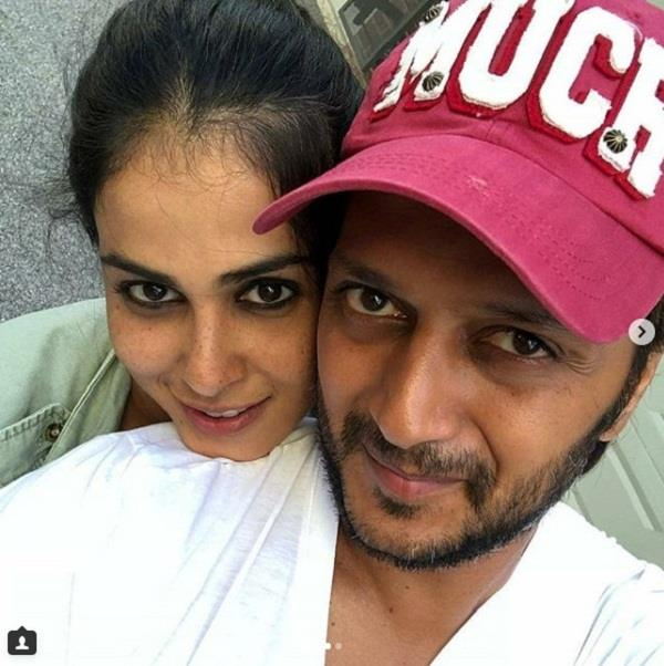 genelia share pictures on riteish birthday