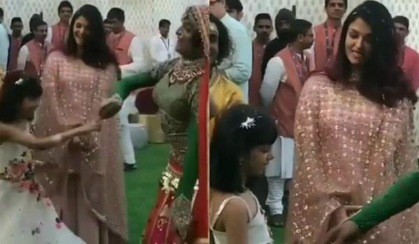 aaradhya bachchan dance at isha ambani pre wedding