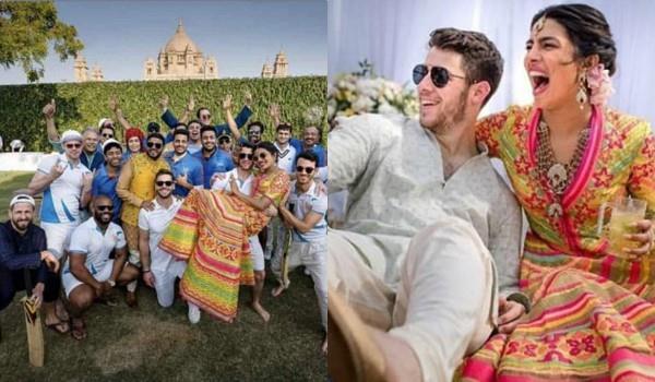 cricket match between priyanka nick family