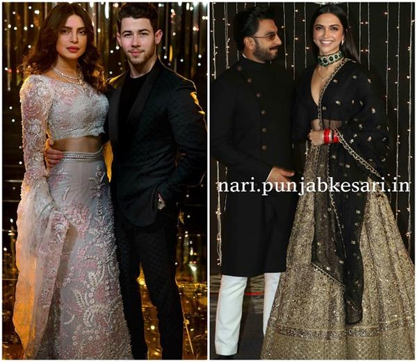 ranveer and deepika steal limelight at nickyanka reception party