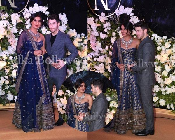 priyanka chopra and nick jonas mumbai wedding reception pics
