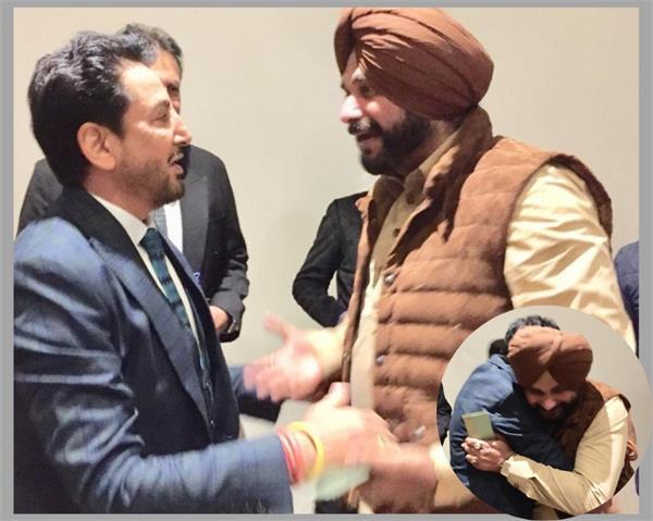 navjot singh meet with gurdas mann at kapil s wedding