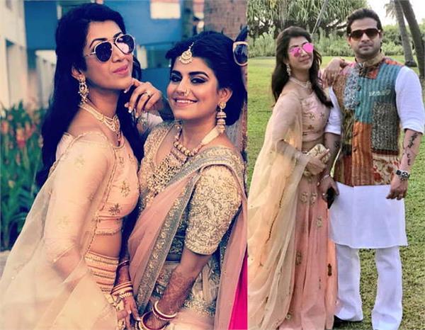ankita bhargav karan patel at wedding