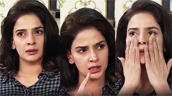 hindi medium fame pakistani actress saba qamar breaks down in tv interview video