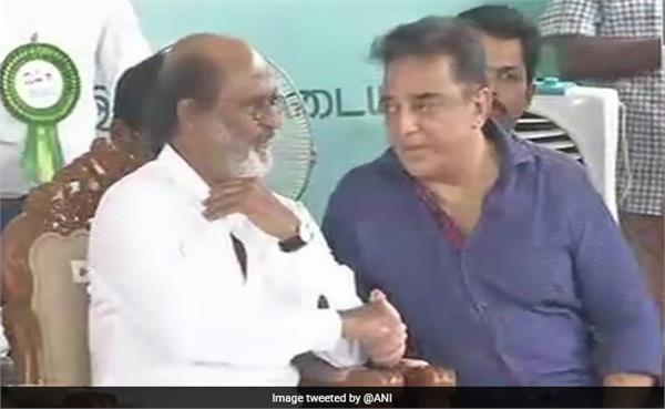 rajinikanth and kamal haasan can appear togather in politic
