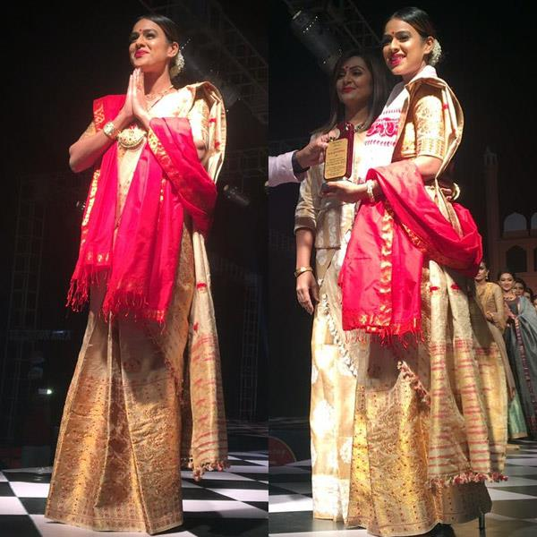 nia sharma in traditional look