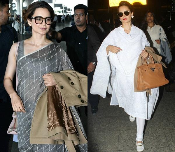 kangana ranaut at airport