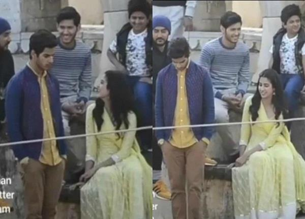 janhvi ishaan video goes viral from the set of dhadak