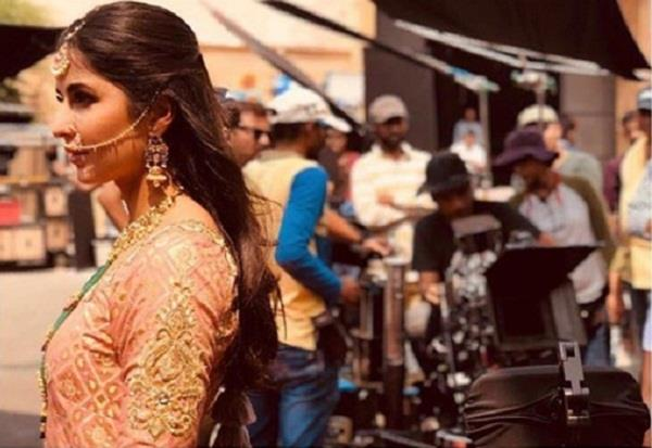 katrina kaif share picture from zero film set