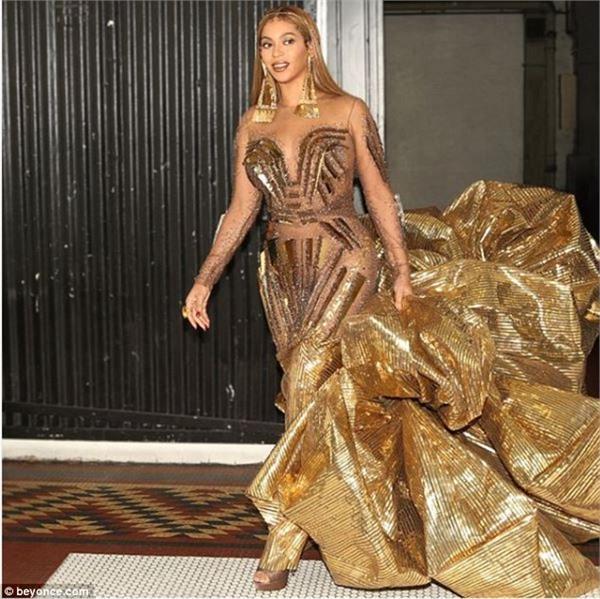 wearable art gala 2018 beyonce nicole s golden dress