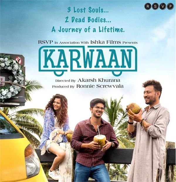 irrfan khan film karwaan first poster