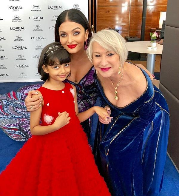 aishwarya rai spends time with daughter aaradhya at cannes