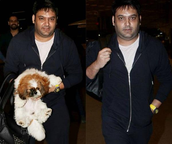 kapil sharma spotted at airport