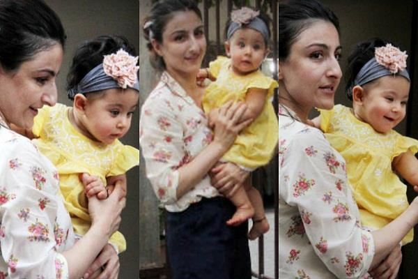 soha ali khan with daughter inaaya latest pictures