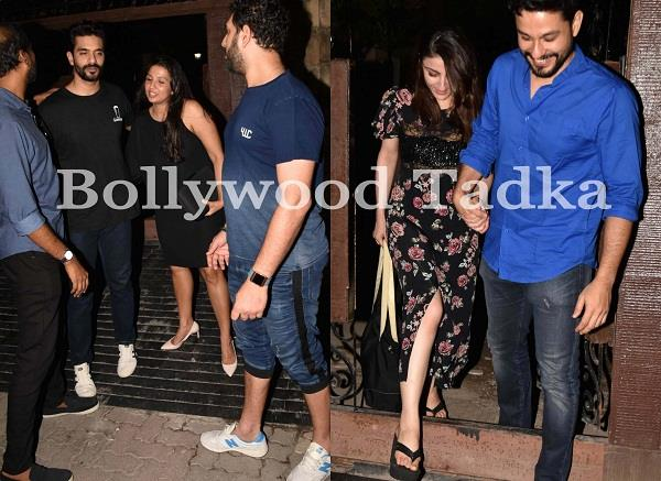 neha dhupia angad bedi host dinner party