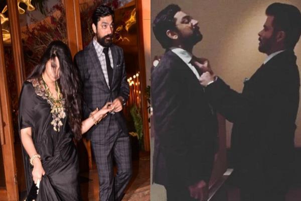 anil kapoor with rhea and boyfriend karan boolani spott at dinner date