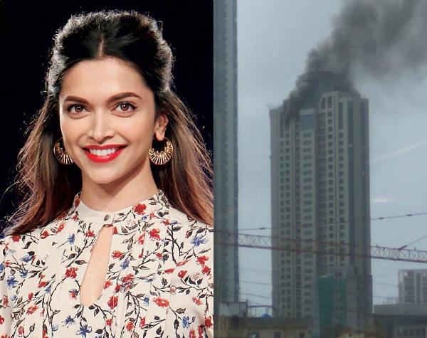 fire on top floor of building