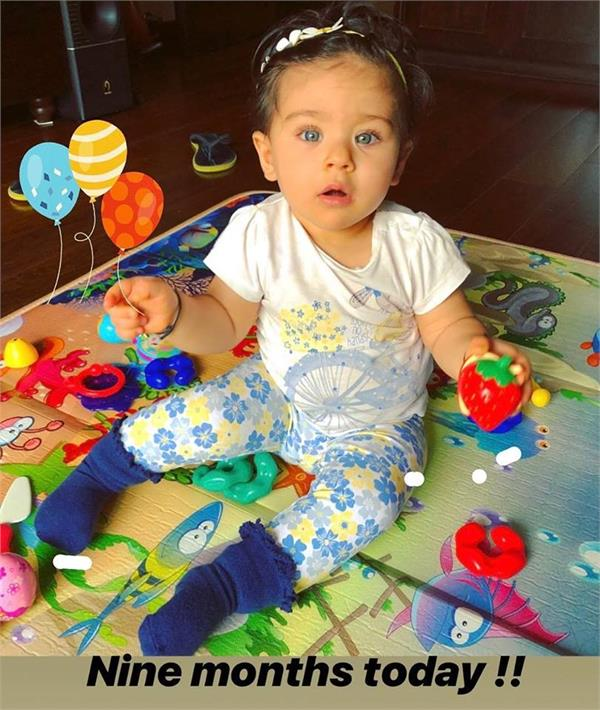 soha ali khan daughter turns 9 month mother share her cute pic